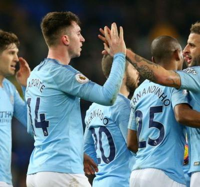 Man City top Everton to temporarily go top of Premier League