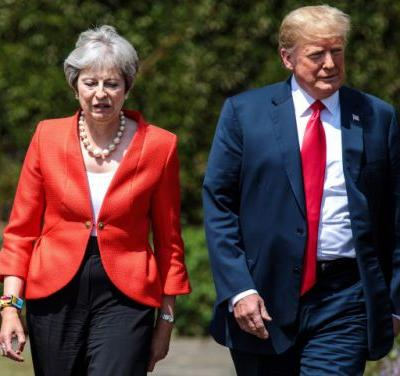 Instead of negotiating Brexit, Theresa May says Donald Trump told her to 'sue the EU'