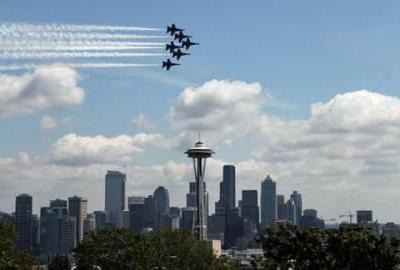 The Blue Angels are Back in Seattle This Week