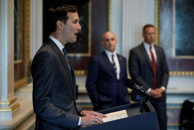 We just heard Jared Kushner speak publicly for the first time in his White House role