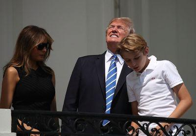 Of Course Donald Trump Stared Right Into The Eclipse Without Glasses
