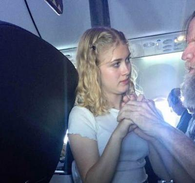 A teen stepped up to help a deaf, blind man on a flight - and their story has gone viral