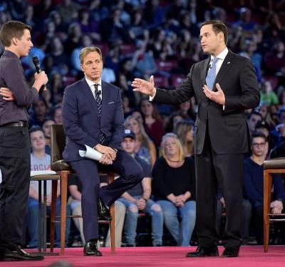 Marco Rubio almost let it slip to gun-violence survivors that, to save America, they have to fight something bigger than the NRA