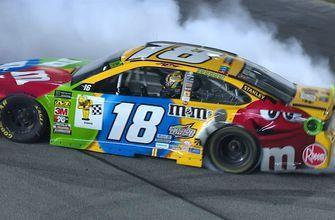 Kyle Busch passes Brad Keselowski for his seventh victory of the year | 2018 RICHMOND