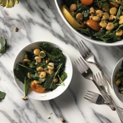 Lupini Beans and Baby Kale Salad