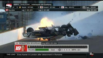 Bourdais Flips In Massive Crash During Fastest Indy 500 Qualifying Run Of Day