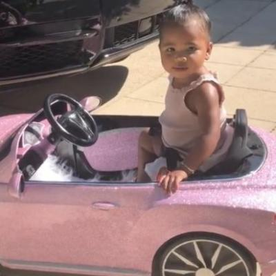Riding in Style! Khloé Kardashian Gifts Her Baby Girl True Thompson a Sparkly Pink Toy Bentley