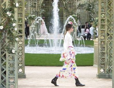 Chanel takes a pretty-in-pink walk in the park at Paris haute couture Fashion Week