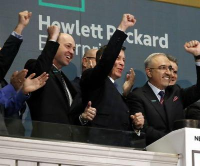 The CEO of Hewlett Packard Enterprise celebrated his one-year anniversary with a 'beat and raise' earnings report that's boosting the stock