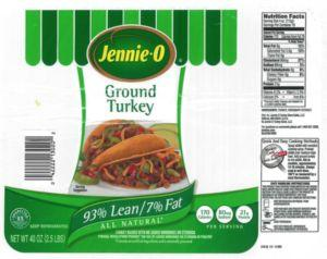 Jennie - O Ground Turkey a link in a 38 State Salmonella Reading Outbreak