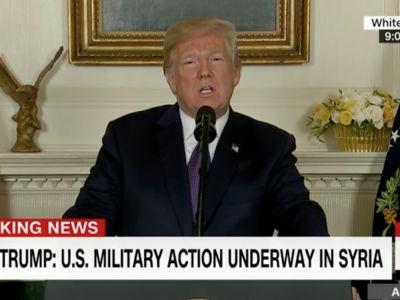 Twitter Reacts After Trump Announces Syria Strike: 'Rightly Calls Out Russia and Iran'