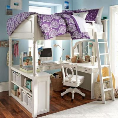 30 Unique Full Size Bed with Desk Pictures