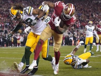 San Francisco's Raheem Mostert runs over Packers with four touchdowns in NFC championship game