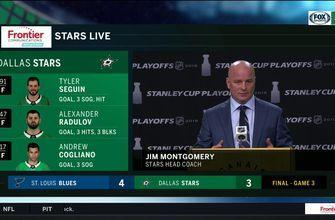 Jim Montgomery talks to the Media Following Stars Game 3 Loss to Blues