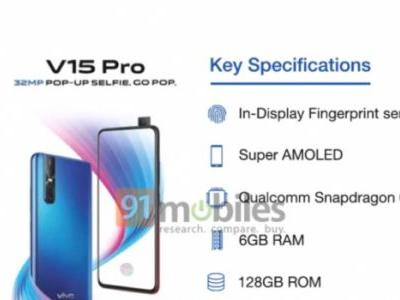 Vivo V15 Pro spotted on Geekbench with SD 675 and 6GB RAM