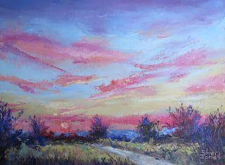 Light Filled Sunrise, New Contemporary Landscape Painting by Sheri Jones