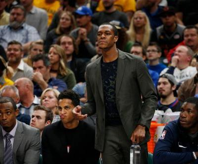 Pelicans' Rajon Rondo returns for the first time this season, scores on first play