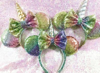 Rainbow unicorn Minnie Mouse ears are here, just in case you need some more magic