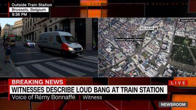 WATCH: Witness captures moments during Brussels train station explosion
