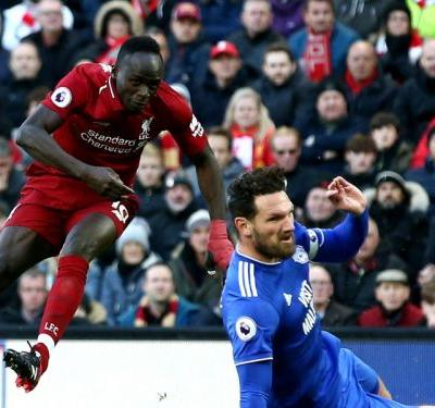Liverpool 4 Cardiff City 1: Mane at the double to blow Bluebirds away