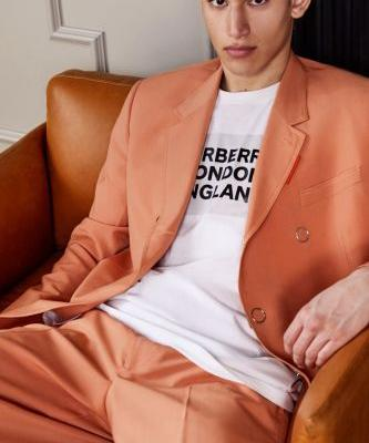 Alexis Chaparro Dons Burberry Tailoring for The Webster