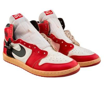 A Pair of Worn Air Jordan 1s Auctioned off for a Record Price of $55,000 USD