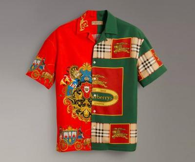 Burberry Pulls out Vintage Scarf Prints for This Archive Silk Shirt Design