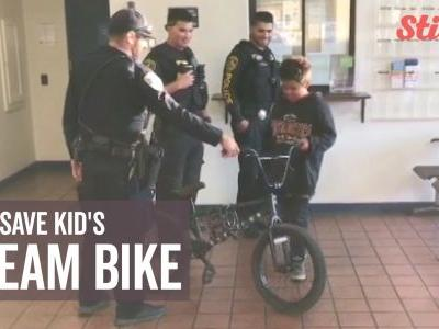11-year-old boy grateful to police officers for recovering stolen bicycle