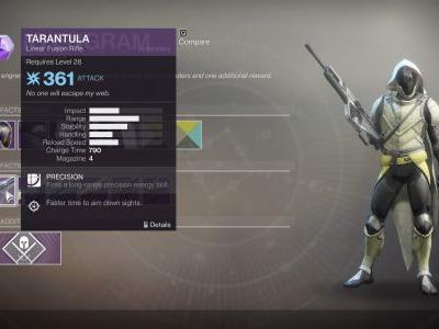 How to Get the Tarantula Linear Fusion Rifle in Destiny 2