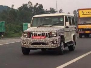 Mahindra Bolero Power Plus BS6 SUV Spotted Testing In Chennai Launch In Early 2020