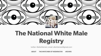 National Registry of White Males: Woman sets up database to register America's 'greatest threat'