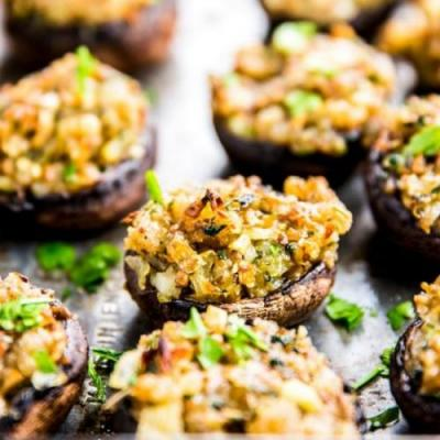 Garlic Parmesan Stuffed Mushrooms