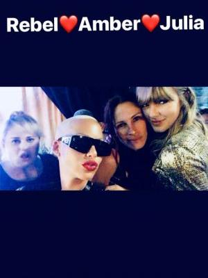 Amber Rose Went To Taylor Swift's Concert & Fans Are Convinced They're Shading Kanye