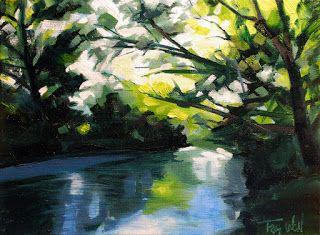 "Tracy Wall Fine Art - ""Spring on Cherry Creek"""