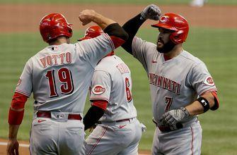 Brewers bats silenced by Anthony DeSclafani, Eugenio Suarez homer enough for Reds, 4-1