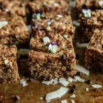 Chocolate Chia Oatmeal Cookie Bars- Vegan and Gluten Free