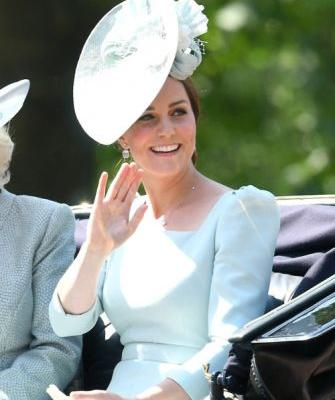 Kate Middleton Wears a Gorgeous Pale Blue Dress to Trooping the