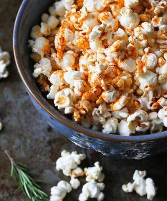 Olive Oil Popcorn with Smoked Paprika & Rosemary