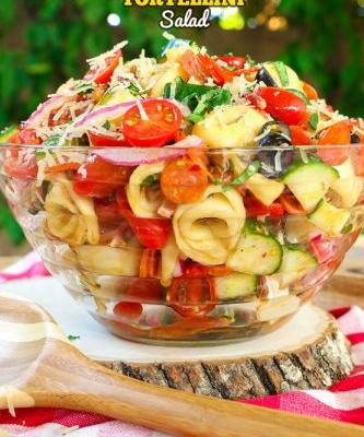Pizza Tortellini Pasta Salad + VIDEO