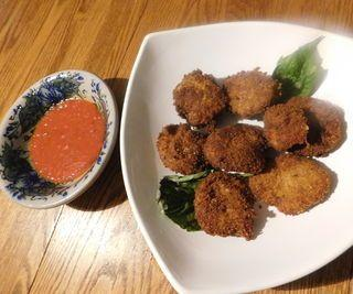 Coconut-fried Mozzarella Discs, From Scratch