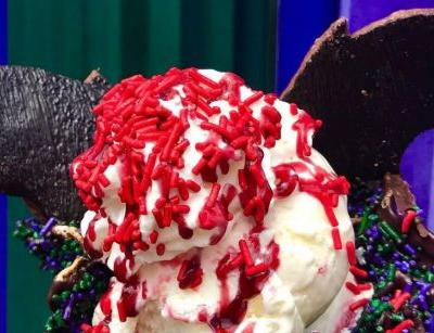 Disneyland is now selling ice cream topped with bat wing biscuits