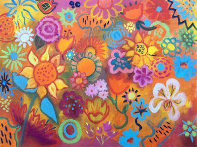 """Cheerful Floral, """"Exuberance,"""" by Amy Whitehouse"""