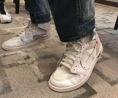 Unreleased Off-White™ x Air Jordan 1 White Colorway Spotted On-Feet