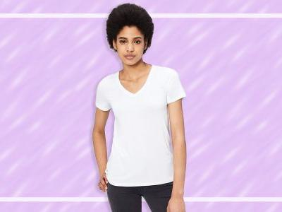 The 5 Best Women's White V-Neck T-Shirts