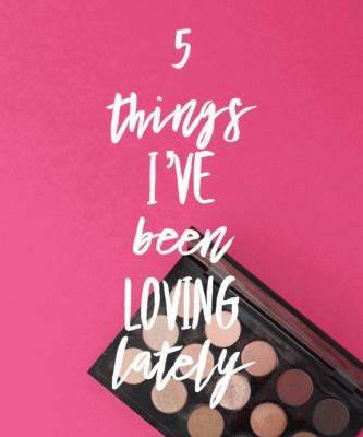 5 Things I've Been Loving Lately: Palette Challenges, Astrology Mugs, Salad, Pillows and Music!