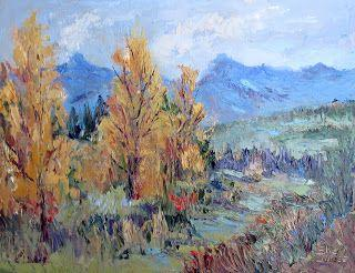 Pagosa Springs Fall Show, New Contemporary Landscape Painting by Sheri Jones