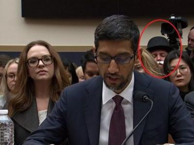 Monopoly guy watches disapprovingly as Congress yells at Google's CEO