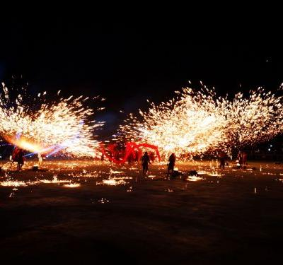 Chongqing fire dragon dance performed in Taiwan to mark Lantern Festival