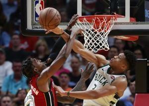 Bucks come from 20 down at halftime to beat Heat 113-98