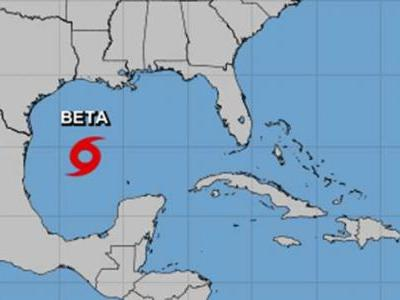 Tropical Storm Beta forms in the Gulf of Mexico
